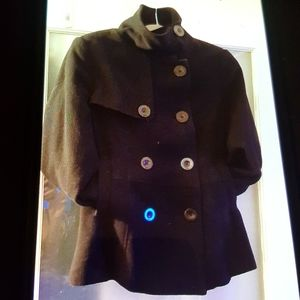 KISMET Black Pea Coat (M)